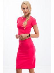 Elegantná ružová zostava sukne a croptopu