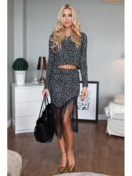 Elegantná súprava topu a sukne
