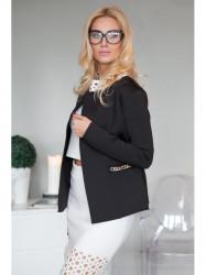 Elegantné, čierné sako