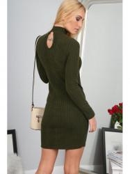Elegantné kaki šaty