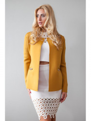 Elegantné, mustardové sako