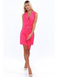 Elegantné šaty s golierom 20070 ružové