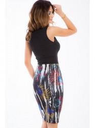 Farebná elastická sukňa