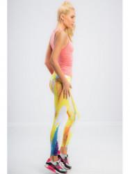 Farebné športové, elastické legíny