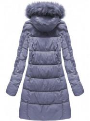 Fialová dámska zimná bunda 7702BIG