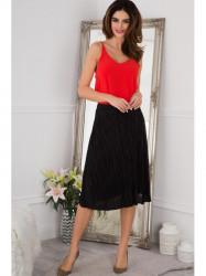 Flisová čierna midi sukňa #1