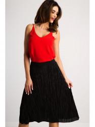 Flisová čierna midi sukňa #2