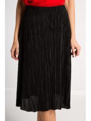 Flisová čierna midi sukňa #3