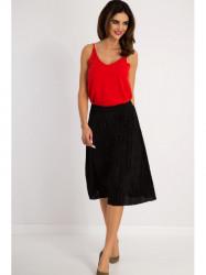 Flisová čierna midi sukňa #4