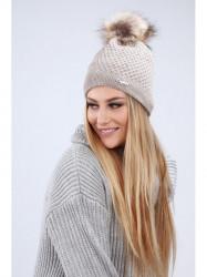 Hnedá dámska čiapka C16