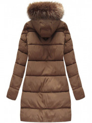 Hnedá dámska zimná bunda 7756