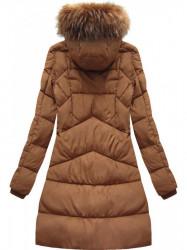 Hnedá dámska zimná bunda 7757BIG
