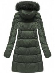 Khaki dámska zimná bunda 7702BIG