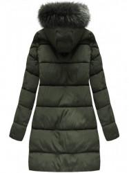 Khaki dámska zimná bunda 7756