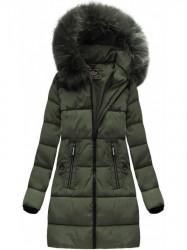 Khaki dámska zimná bunda 7756 #4