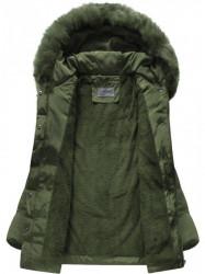 Khaki prešívaná zimná bunda B3572 #3