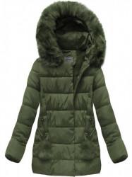 Khaki prešívaná zimná bunda B3572 #4