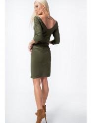 Khaki šaty 9729