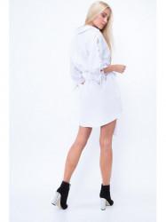 Košeľové šaty MP26043, biele