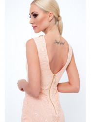 Krajkové šaty G5283, broskyňové