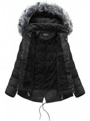 Krátka asymetrická zimná bunda YB917, čierna #1