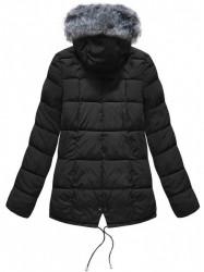Krátka asymetrická zimná bunda YB917, čierna #2