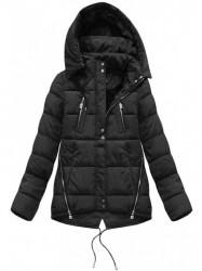 Krátka asymetrická zimná bunda YB917, čierna #3