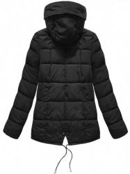 Krátka asymetrická zimná bunda YB917, čierna #4