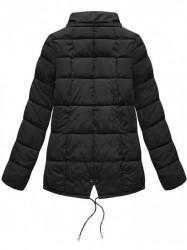 Krátka asymetrická zimná bunda YB917, čierna #6