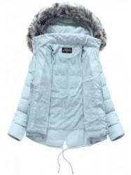 Krátka asymetrická zimná bunda YB917, svetlo modrá #1