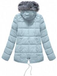 Krátka asymetrická zimná bunda YB917, svetlo modrá #2