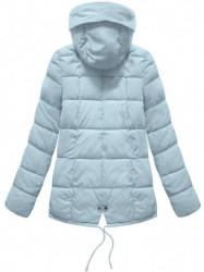 Krátka asymetrická zimná bunda YB917, svetlo modrá #4