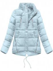 Krátka asymetrická zimná bunda YB917, svetlo modrá #5