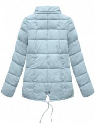 Krátka asymetrická zimná bunda YB917, svetlo modrá #6