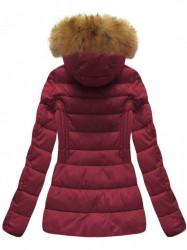 Krátka dámska zimná bunda B1032-30, bordová