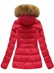 Krátka dámska zimná bunda B1032-30, červená
