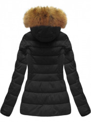 Krátka dámska zimná bunda B1032-30, čierna