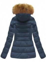 Krátka dámska zimná bunda B1032-30, modrá