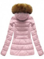 Krátka dámska zimná bunda B1032-30, ružová
