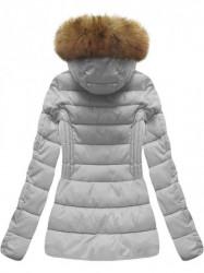 Krátka dámska zimná bunda B1032-30, sivá