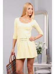 Krátke citrónové šaty