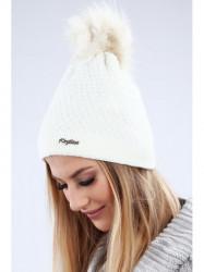 Krémová dámska čiapka C16