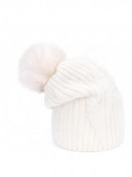 Krémová dámska čiapka