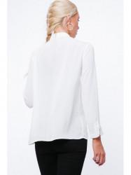 Krémová dámska košeľa MP26005