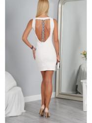 Krémové elegantné šaty