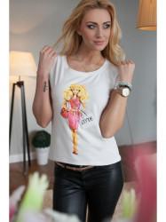 Krémové tričko s potlačou