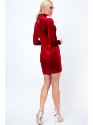 Červené dámske šaty - Locca.sk 45c3a3806c4