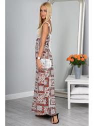 Letné vzorované dlhé šaty
