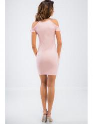 Lososové mini šaty