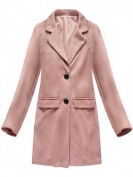 Lososový dámsky prechodný kabát 0760